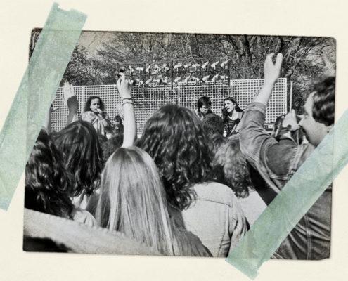 Cottbus, Eliaspark im Bluessommer 1986