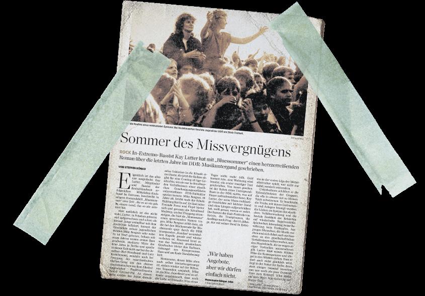 Erste Rezension Buch Bluessommer in Mitteldeutscher Zeitung