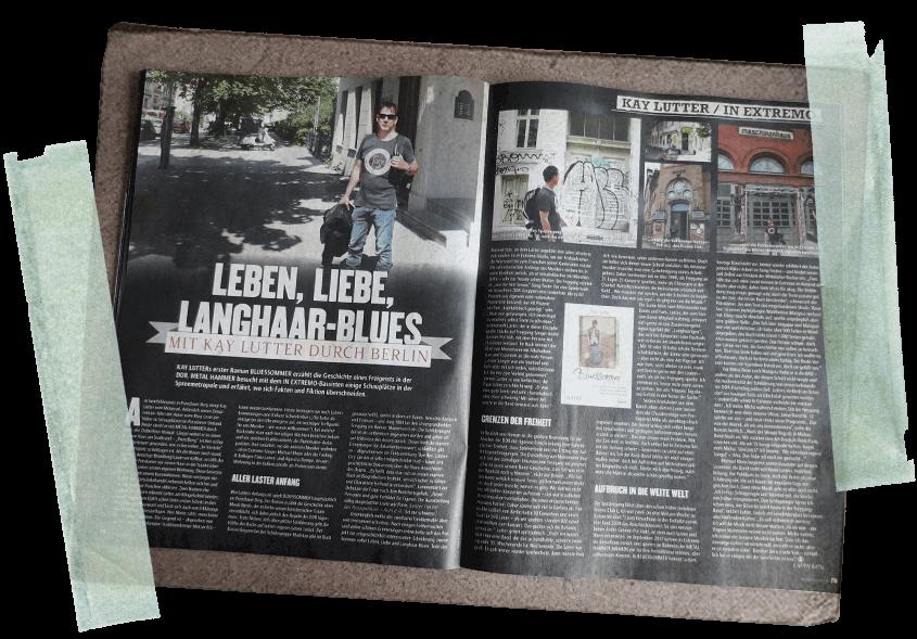 Beitragsbild Artikel Bluessommer Kay Lutter im Metal Hammer